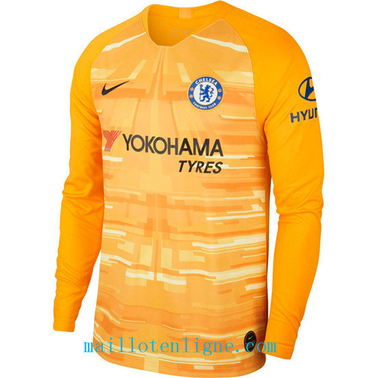Maillot du Chelsea Domicile Gardien de but Manche Longue Orange