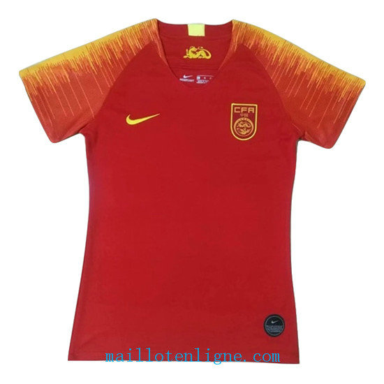 Maillot Chine Femme Domicile Rouge 2019 2020