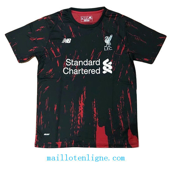 Maillot Liverpool training Noir Rouge 2019 2020