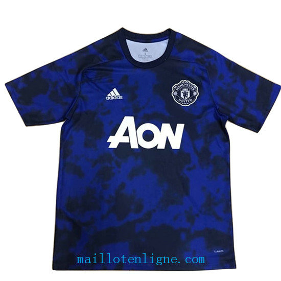 Maillot Manchester United training Bleu 2019 2020