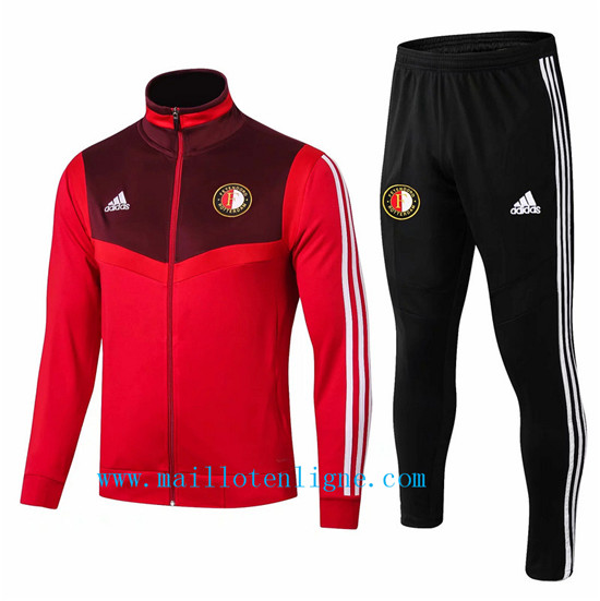 Maillotenligne Veste Survetement Feyenoord Rouge + Short Noir 20