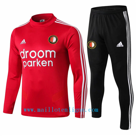 Maillotenligne Survetement Feyenoord Rouge + Short Noir 2019/202