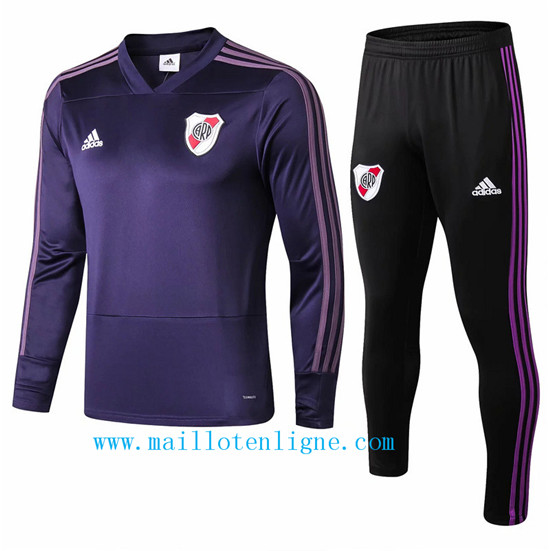 Maillotenligne Survetement River Plate Violet 2018/2019 Col V