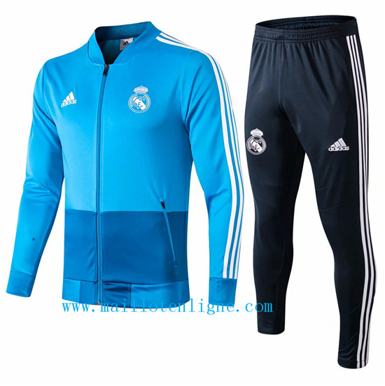 Maillotenligne Veste Survetement Real Madrid Bleu 2019/2020