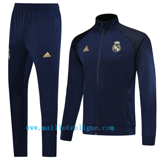Maillotenligne Veste Survetement Real Madrid Bleu Marine 2019/20