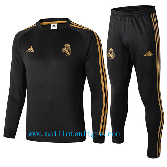 Maillotenligne Survetement Real Madrid Noir 2019/2020 Col Rond