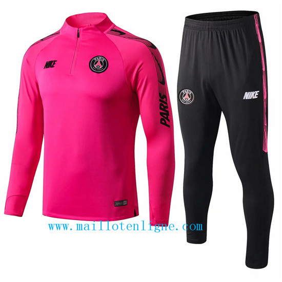 Maillotenligne Survetement PSG Rose 2019/2020 Col Rond