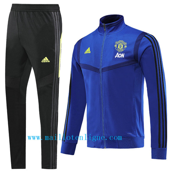 Maillotenligne Veste Survetement Manchester United Bleu 2019/202
