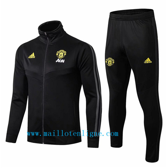 Maillotenligne Veste Survetement Manchester United Noir 2019/202