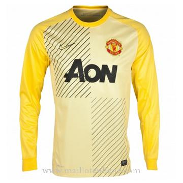 Maillot Manchester United Manche Longue Goalkeeper 2013-2014