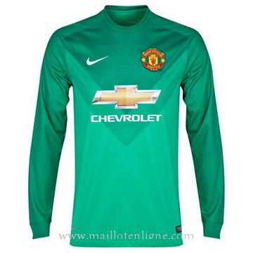 Maillot manchester united Gardien Manche Longue 2014 2015