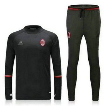 Maillot Formation AC Milan ML Noir 2016 2017