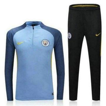 Maillot Formation Manchester City ML Bleu 2016 2017