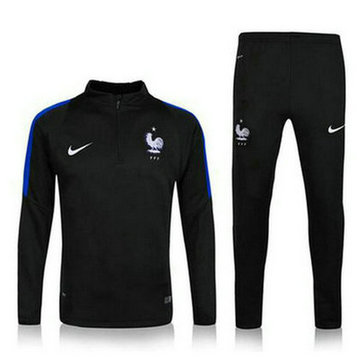 Maillot de France Formation ML noir 2016/2017