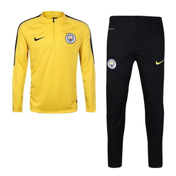 Maillot de Manchester City Formation ML jaune- 01 2017/2018