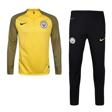 Maillot de Manchester City Formation ML jaune 2017/2018