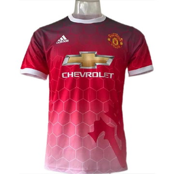 Maillot de Formation Manchester United rouge-02 2017/2018