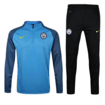 Maillot de Manchester City Formation ML Rouge 2017/2018