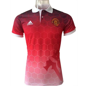 Maillot de Polo Manchester United rouge-01 2017/2018