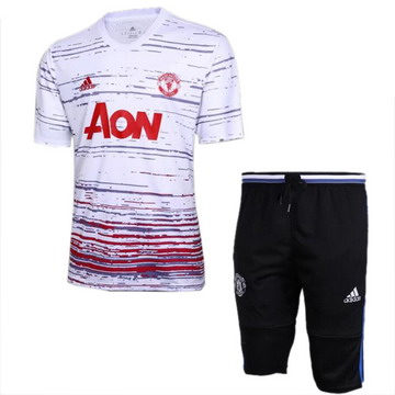 Maillot de Formation Manchester United blanc-01 2017/2018