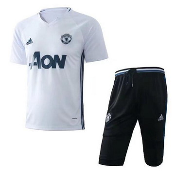 Maillot de Formation Manchester United blanc-02 2017/2018
