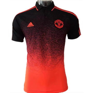 Maillot de Polo Manchester United rouge-02 2017/2018