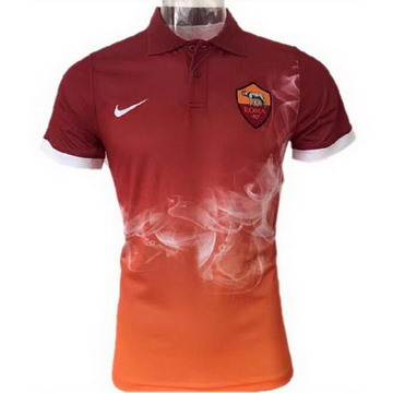 Maillot de Polo AS Roma Orange 2017/2018