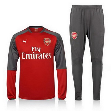 Maillot de Arsenal Formation ML Rouge-02 2017/2018