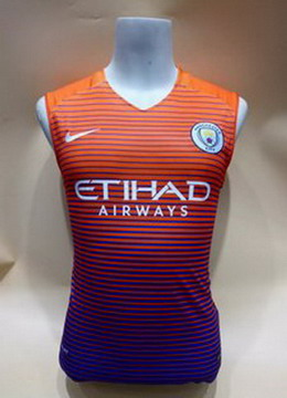 Maillot de Sans Manches Manchester City Orange 2017/2018