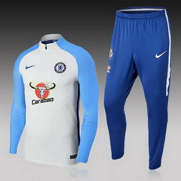 Maillot de Chelsea Formation ML Blanc-01 2017/2018