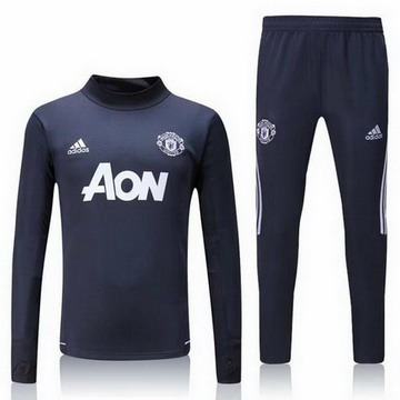 Maillot de Manchester United Formation ML Gris fonce 2017/2018