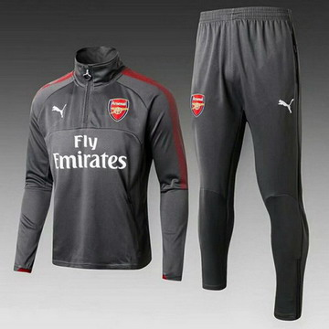 Maillot de Arsenal Formation ML Gris-01 2017/2018