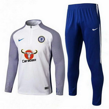 Maillot de Chelsea Formation ML Blanc-02 2017/2018