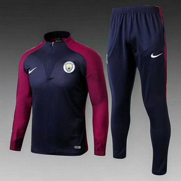 Maillot de Manchester City Formation ML noir-01 2017/2018