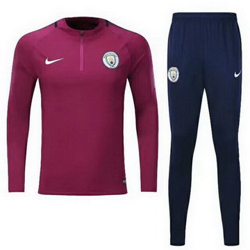 Maillot de Manchester City Formation ML rose rouge 2017/2018