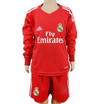 Maillot de Real Madrid ML Enfant Gardien Rouge 2017/2018
