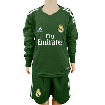 Maillot de Real Madrid ML Enfant Gardien vert 2017/2018