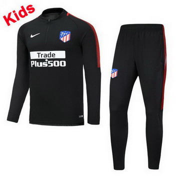 Maillot de Atletico Madrid Enfant Formation ML Noir 2017/2018