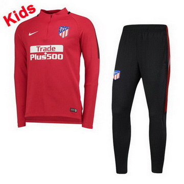 Maillot de Atletico Madrid Enfant Formation ML Rouge 2017/2018