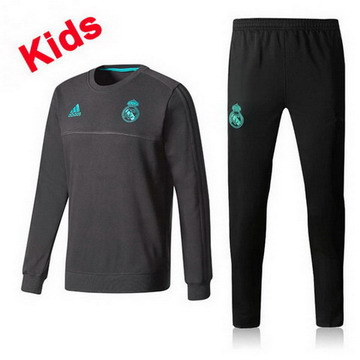 Maillot de Real Madrid Enfant Formation ML Noir 2017/2018