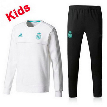 Maillot de Real Madrid Enfant Formation ML blanc 2017/2018