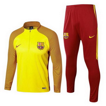 Maillot de Barcelone Formation ML Jaune-01 2017/2018