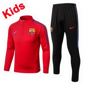 Maillot de Barcelone Enfant Formation ML Rouge 2017/2018