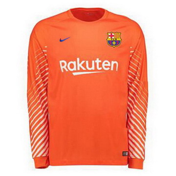 Maillot de Barcelone Manche Longue Gardien Orange 2017/2018