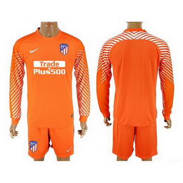 Maillot de Atletico Madrid Manche Longue Gardien orange 2017/201