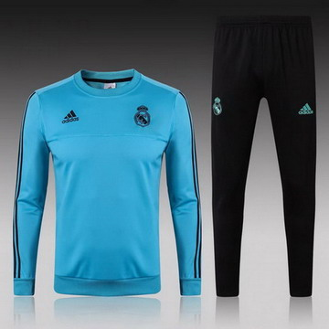 Maillot de Real Madrid Formation ML bleu-02 2017/2018
