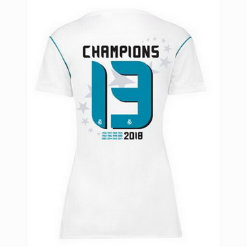 Maillot de Real Madrid Femme 13 Champions 2017/2018