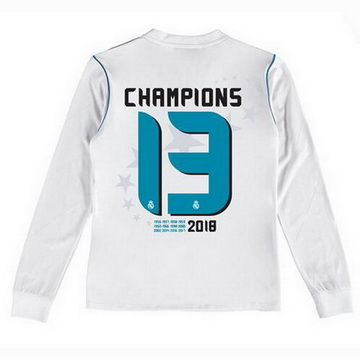Maillot de Real Madrid ML Enfant 13 Champions 2017/2018