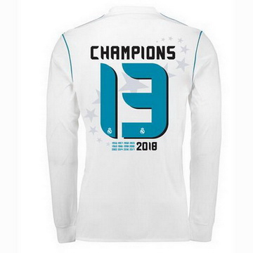 Maillot de Real Madrid Manche Longue 13 Champions 2017/2018