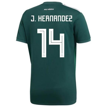 Maillot Mexique 14 Javier Chicharito Domicile Coupe du monde 201
